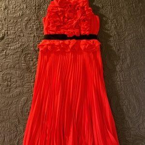 BCBG Red Midi Cocktail Dress